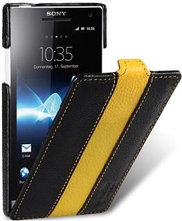 Чехол для Sony Xperia S Melkco Limited черно- желтый