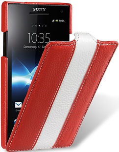 Чехол для Sony Xperia S Melkco Limited красно- белый