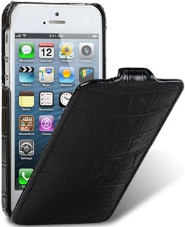 Чехол для iPhone 5 Melkco Crocodile черный