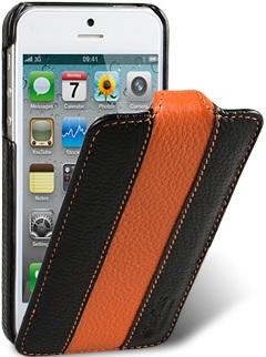 Чехол для iPhone 5 Melkco Limited черно- оранжевый