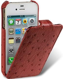 Чехол для iPhone 5 Melkco Ostrich (Страус) огнен.
