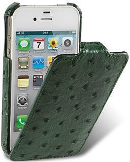 Чехол для iPhone 5 Melkco Ostrich (Страус) зеленый