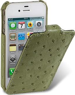 Чехол для iPhone 5 Melkco Ostrich (Страус) олива