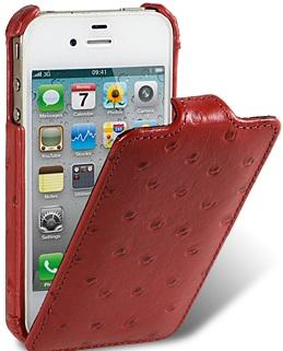 Чехол для iPhone 5 Melkco Ostrich (Страус) красный