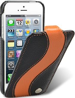Чехол для iPhone 5 Melkco Special черно- оранжевый