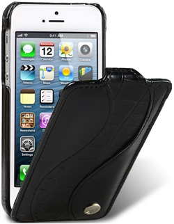 Чехол для iPhone 5 Melkco Special черный крокодил