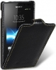Чехол для Sony Xperia Sola Melkco Jacka Type черный
