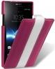 Чехол для Sony Xperia S Melkco Limited фиолет.- белый