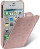 Чехол для iPhone 5 Melkco Ostrich (Страус) розовый